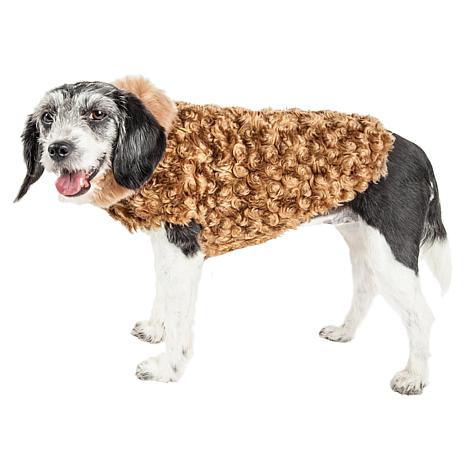 Pet Life Luxe Furpaw Shaggy Elegant Designer Dog Coat