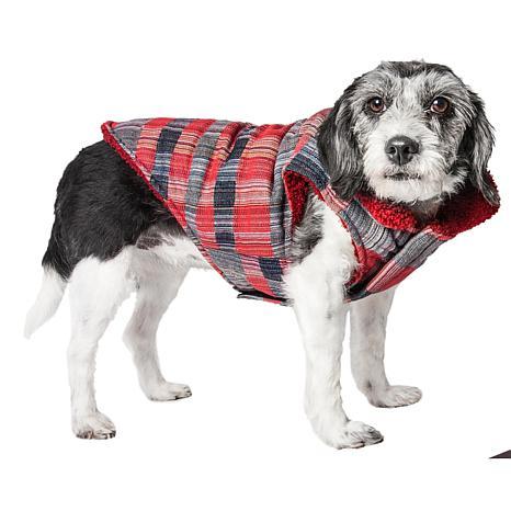 Pet Life Scottish Tartan Classic Plaid Insulated Dog Coat