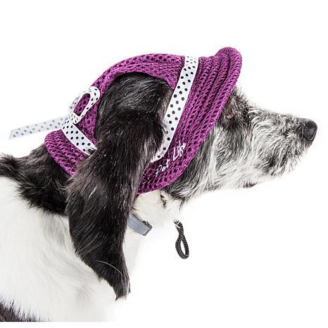 Pet Life Sea Spot Sun Adjustable Mesh Brimmed Dog Hat - Medium
