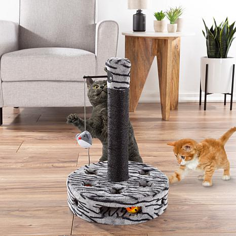 PETMAKER Cat Scratching Post w/Built-In Rolling Ball and Track