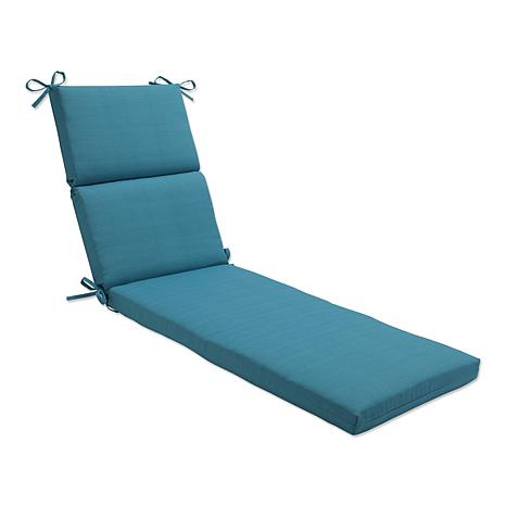 Pillow perfect chaise lounge cushion forsyth turquoise for Best chaise lounge cushions