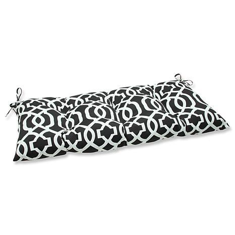 Pillow Perfect Geo Iron Loveseat Cushion - Black-White