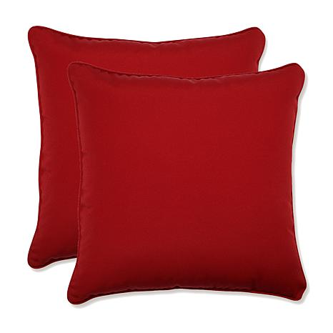 Pillow Perfect Pompeii Corded Throw Pillow Pair - Red