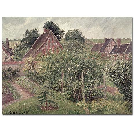 Pissarro 'Landscape with Cottage Roofs 1889' Art