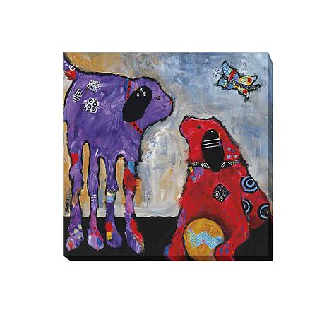 """Play Day"" Gallery-Wrapped Giclee Canvas Wall Art"
