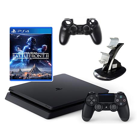"PlayStation 4 Slim 1TB Console with ""Battlefront 2"" Game & Accessories"