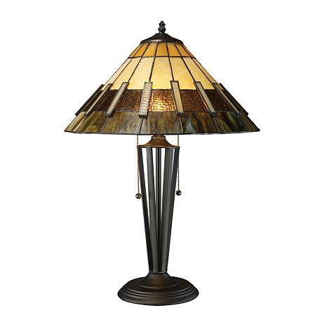 "Porterdale 23"" 2-Light Tiffany Bronze Table Lamp"
