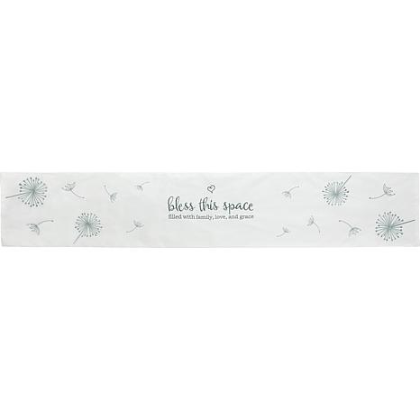 Precious Moments Bless This Space Fabric Table Runner