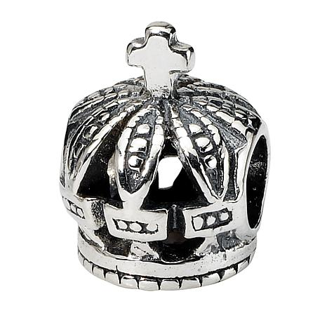 Prerogatives Sterling Silver Crown Bead