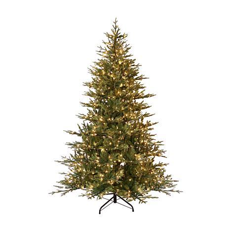 Puleo International 7.5' Pre-Lit Balsam Fir  Christmas Tree
