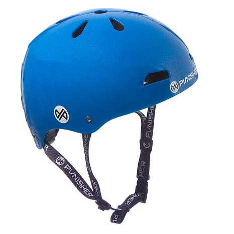 Punisher Premium Neon Blue Youth Skateboard Helmet