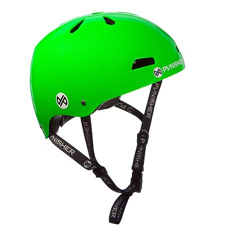 Punisher Premium Neon Green Youth Skateboard Helmet