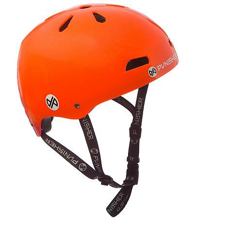 Punisher Premium Neon Orange Youth Skateboard Helmet