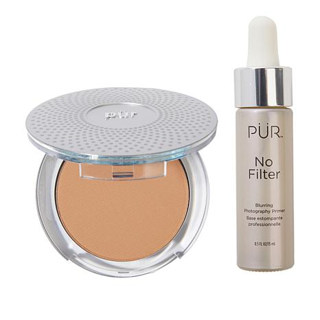 PUR 4-in-1 Mineral Foundation with No Filter Primer - Golden Dark
