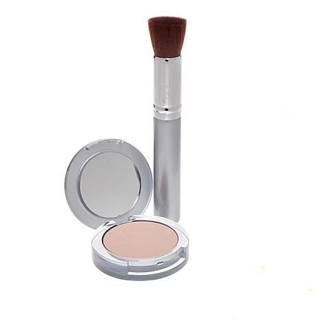 PUR Blush Medium 4-in-1 Pressed Mineral Powder Foundation with Brush