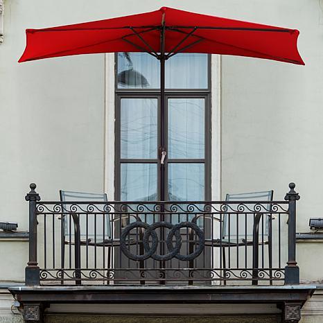 Pure Garden 9' Half-Round Patio Umbrella