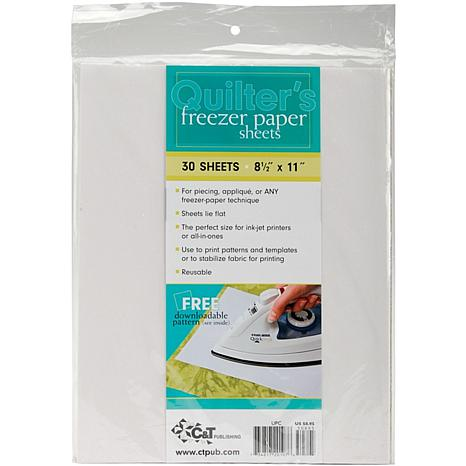 """Quilter's Freezer Paper Sheets - 8-1/2"""" X 11"""""""