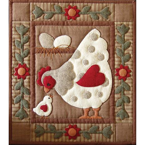 Spotty Hen Wall Quilt Kit Spotty Hen 40 HSN Delectable Chicken Quilt Pattern