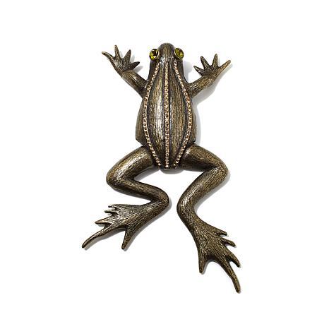 Rara Avis by Iris Apfel Crystal-Accented Frog Brooch