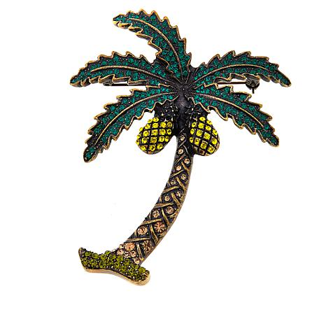 Rara Avis by Iris Apfel Palm Tree Brooch