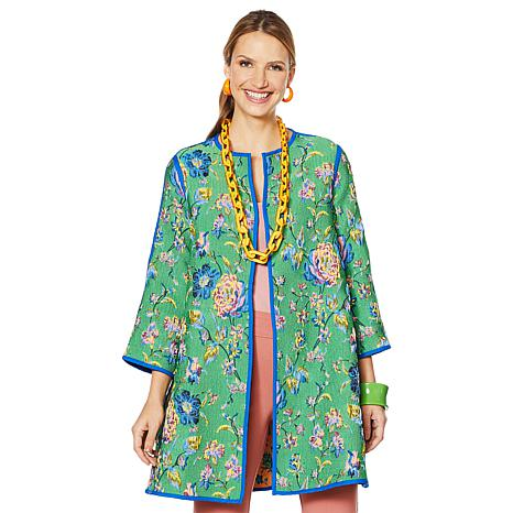 Rara Avis by Iris Apfel Puffy Jacquard Coat