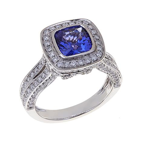 Rarities 2.17ctw Tanzanite and Diamond 14K Gold Ring