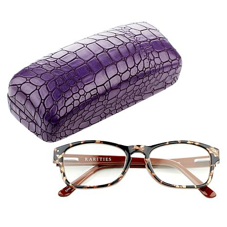 Rarities Brown  Tortoise Evil Eye Readers with Case and Cleaning Cloth