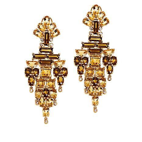 Rarities Gold-Plated Multigem Chandelier Earrings
