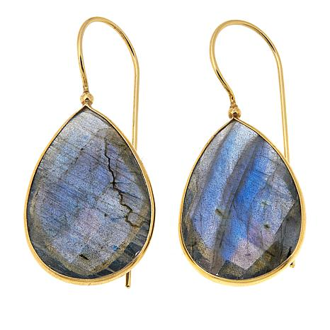 Rarities Labradorite Pear-Shaped  Drop Earrings