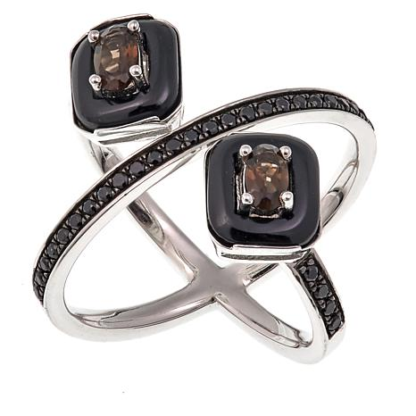 Rarities Onyx, Black Spinel and Gem Negative Space Ring