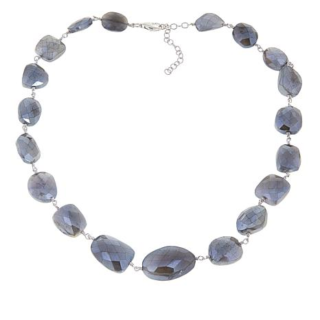 "Rarities Platinum-Colored Moonstone 16"" Necklace"