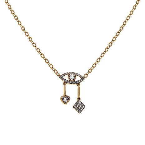 Rarities White Zircon Talisman Cable-Chain Necklace