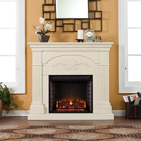 Ravenna Electric Fireplace Ivory