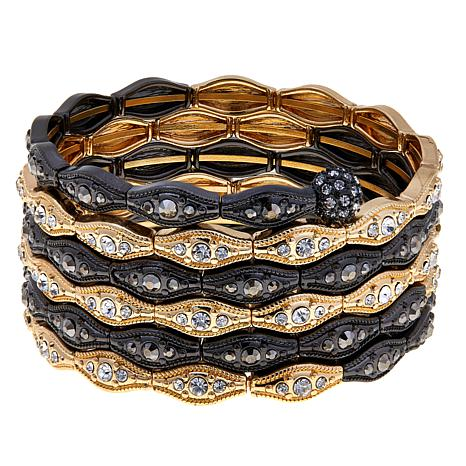 Real Collectibles by Adrienne® Crystal Coiled Bracelet
