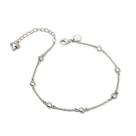 Real Collectibles by Adrienne® Heart Dangle Anklet
