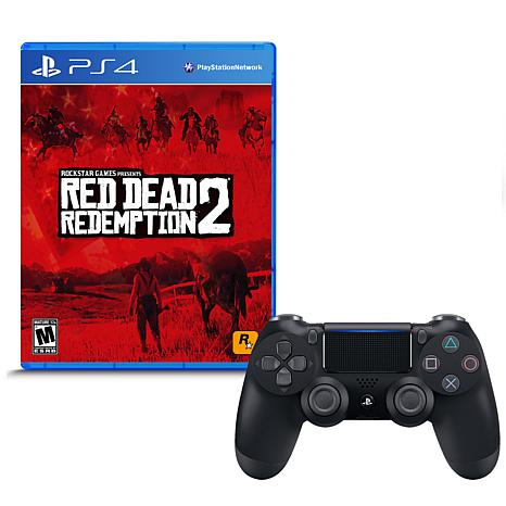 """Red Dead Redemption 2"" Game for PS4 w/DualShock 4 Wireless Controller"