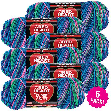 Red Heart Super Saver Yarn 6-pack - Bright Mix