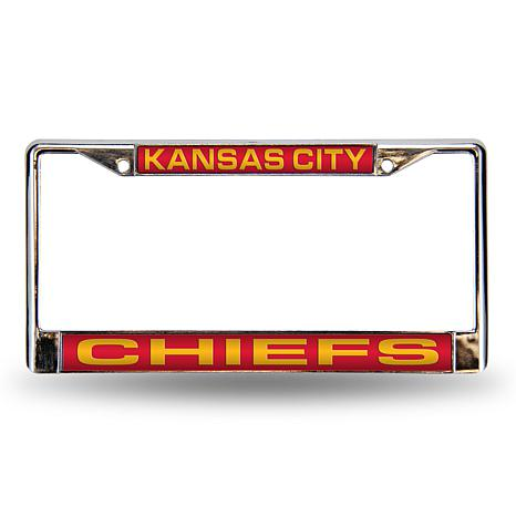 Red Laser Chrome License Plate Frame Kansas City Chiefs