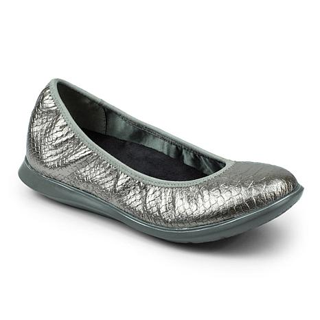 Revitalign Inca Full Grain Textured Leather Ballerina