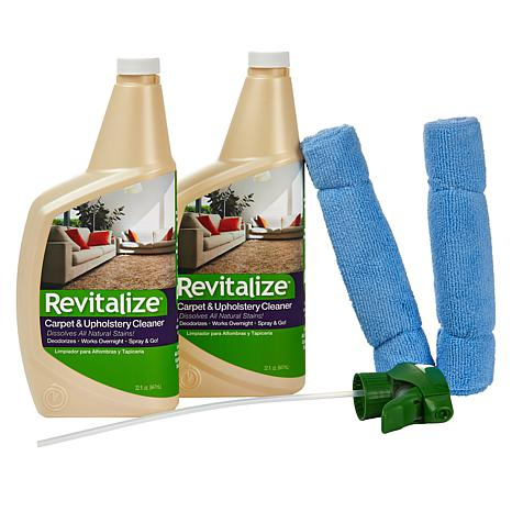 Revitalize 32 oz. Carpet Cleaner with Cloths 2-pack