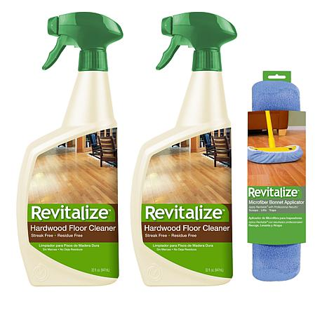 Revitalize 32 Oz Hardwood Floor Cleaner 2 Pack With Bonnet