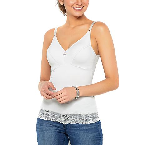 Rhonda Shear 2-pack Pin Up Camisole with Lace Trim