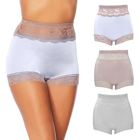 Rhonda Shear White Lace Trim Pin-Up Retro Style Panty Panties New