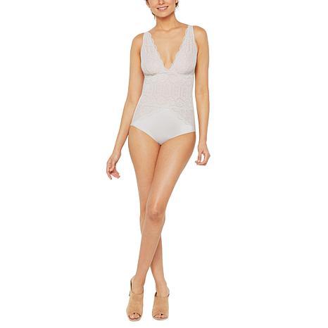 a83941947622e Rhonda Shear Scalloped Adjustable Strap Bodysuit - 8922242
