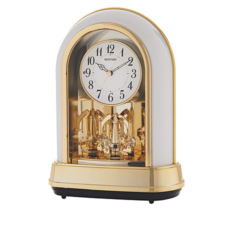 Rhythm Musical Motion Clock Dulcet II with Swarovski Crystal