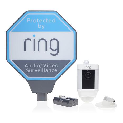 Ring Spotlight HD Security Cam w/Ring Assist+and Solar Sign - Battery