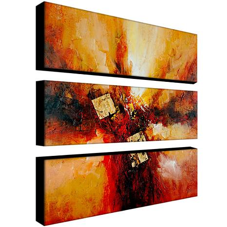 "Rio ""Cube Abstract I"" 3-Panel, Giclée-Print Set"