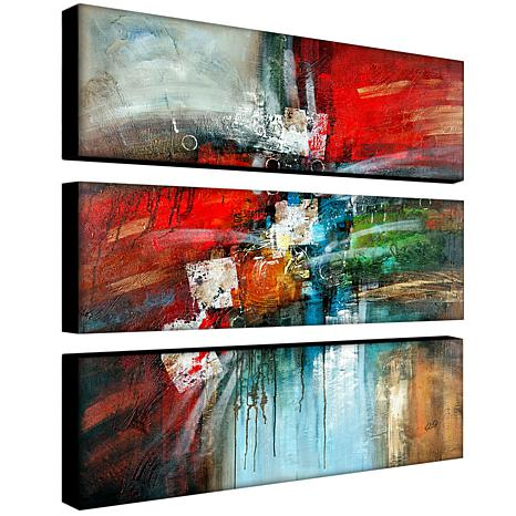 Rio Cube Abstract Iv Canvas Art 3 Panel Set