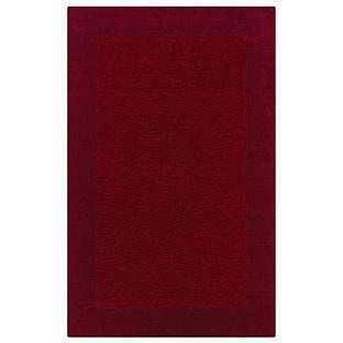 Rizzy Home Platoon Hand-Tufted Maroon Rug - 3' x 5'