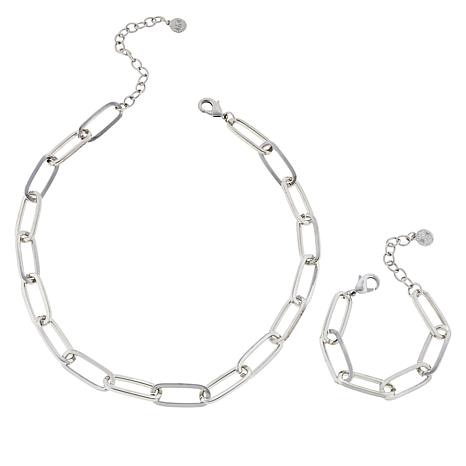 "R.J. Graziano ""Chain Reaction"" Necklace and Bracelet Set"